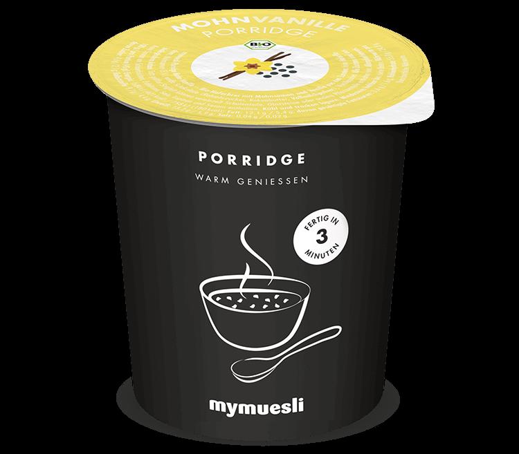 Bio-Porridge mit erlesenem Mohn und duftender Vanille