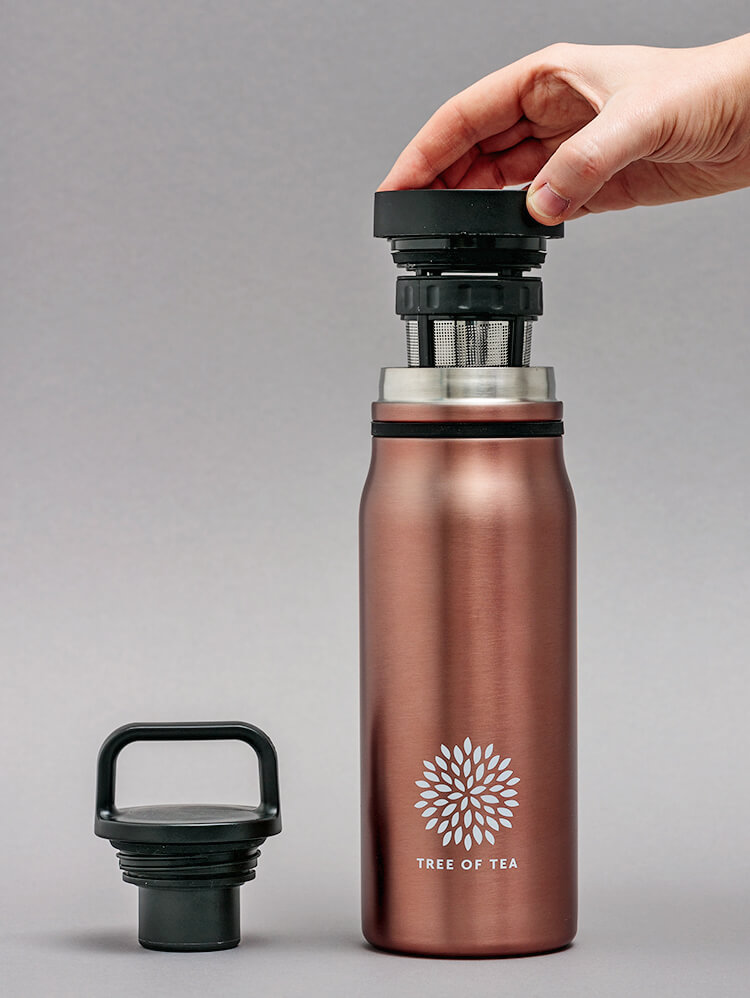 Unsere Thermo Bottle 2go in schickem Roségold