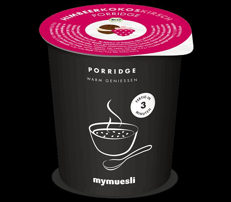 Himbeer-Kokos-Kirsch-Porridge von mymuesli