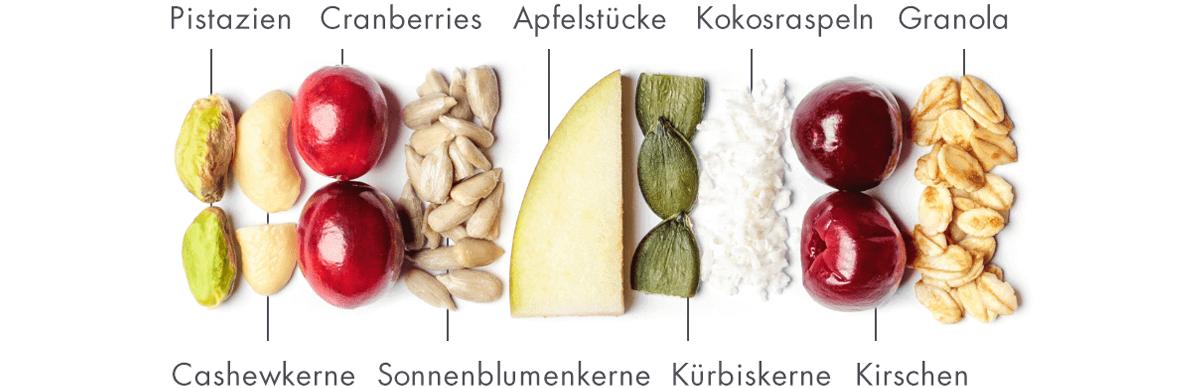 Bio-Müsliriegel für ein schnelles Frühstück.