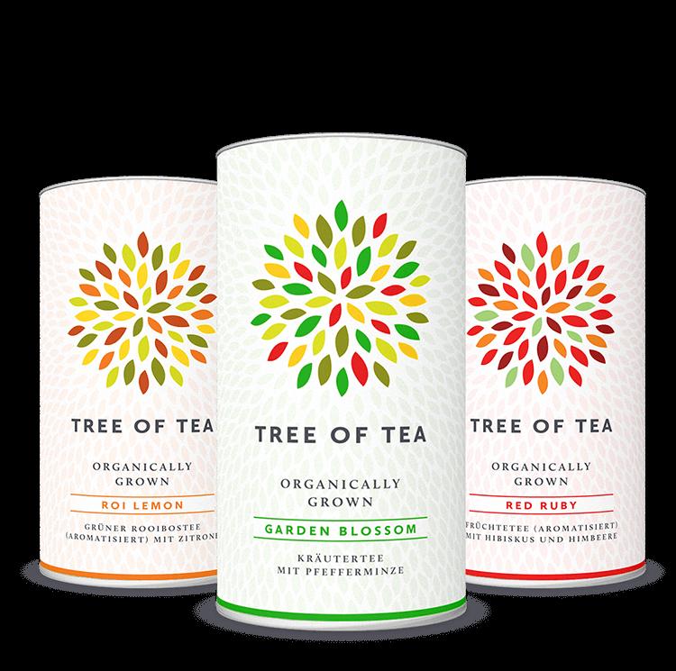 3 bunte Teesorten im Set