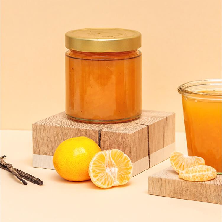 Köstliche Mandarinen Marmelade mit winterlichem Golden Gory