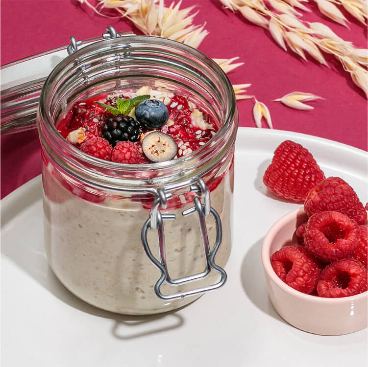 Overnight Oats mit Beeren