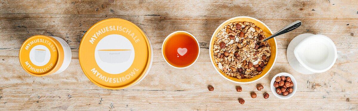 Die Porzellan Schalen & Tassen für dein Müsli-Frühstück.