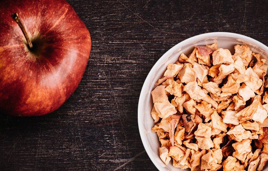 Unsere Apfelstücke stammen ausschließlich aus biologischen Anbau.