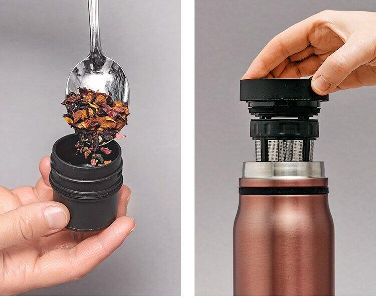 Der praktische Teegenuss für unterwegs mit unserer Thermo Bottle 2go.