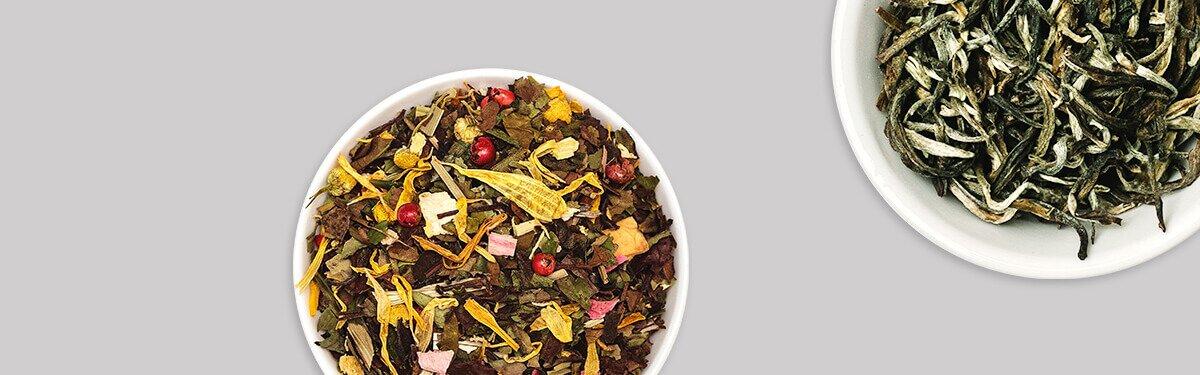 Das Weiße Tee Set mit 2 leckeren Sorten Bio-Blatttee