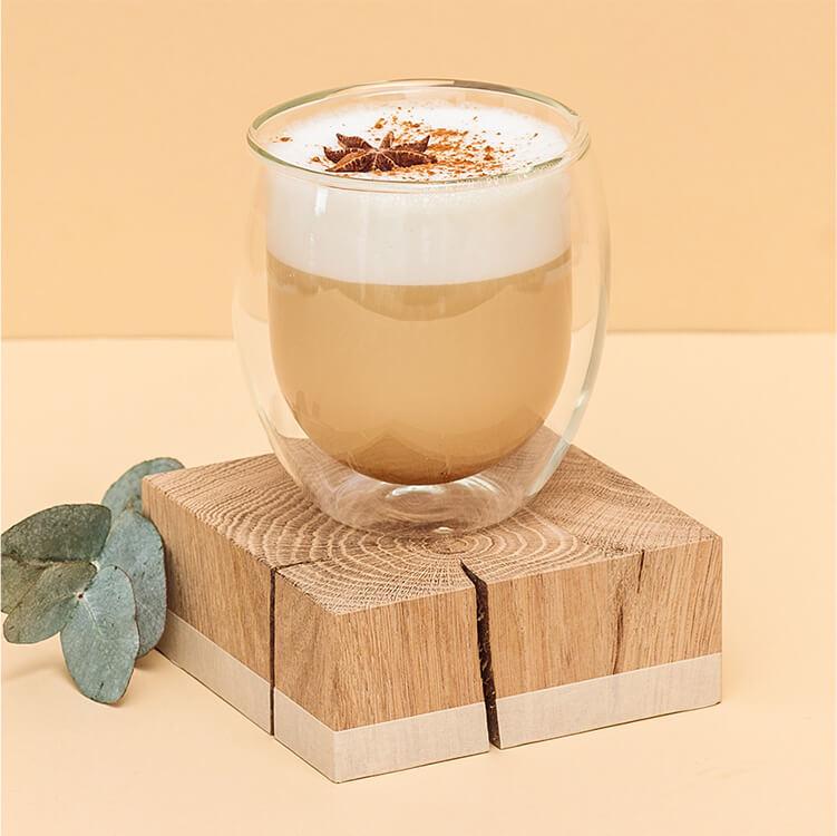 Der Chai Tee Latte mit leckerem Zimt und Hafer Nilk