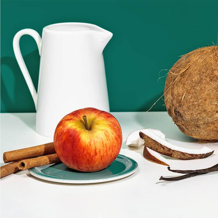 Mit Zutaten wie Apfel, Zimt und Kokos