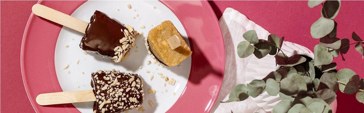 Vegane Bananen Cake Pops mit Schokoladen Topping