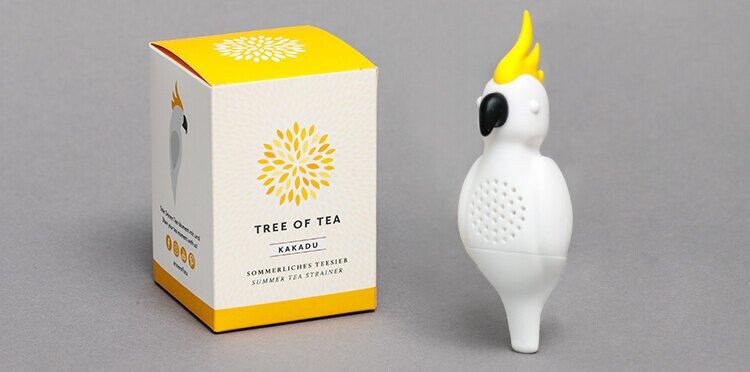 Limitiertes Teesieb in Form eines Kakadus