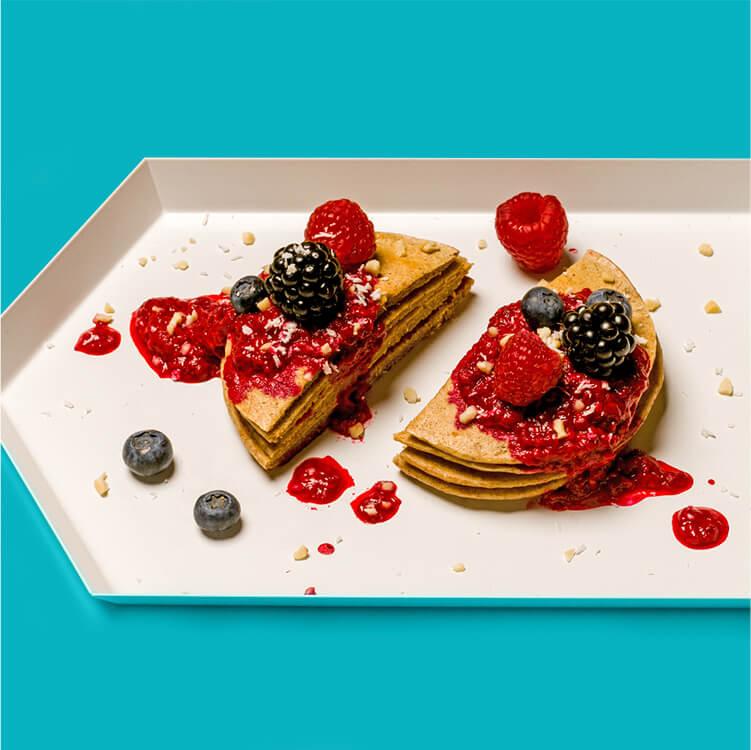 Pancakes mit Hafer Nilk