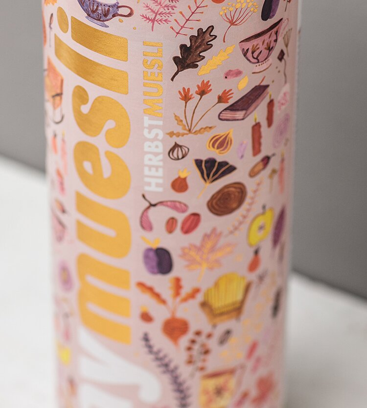 Goldiges Herbst Muesli Design