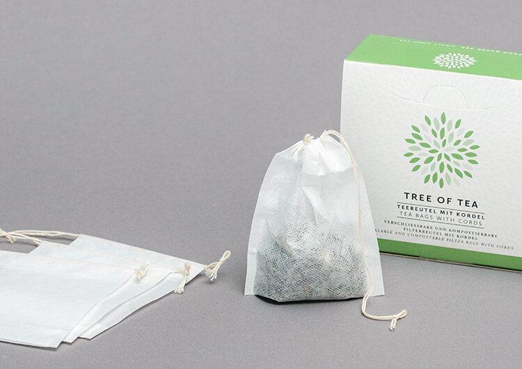 Die praktischen Teebeutel mit Kordel für die einfache Teezubereitung