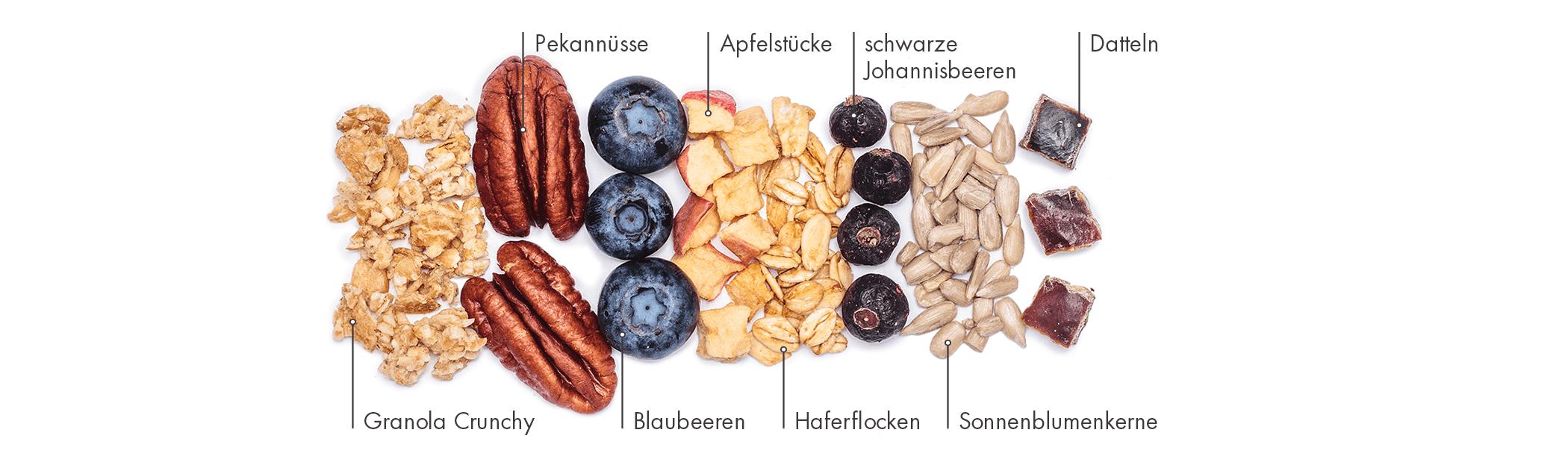 Unser Blaubeer-Vanille-Riegel enthält viel Bio-Früchte und ist der perfekte Snacl für zwischendurch.