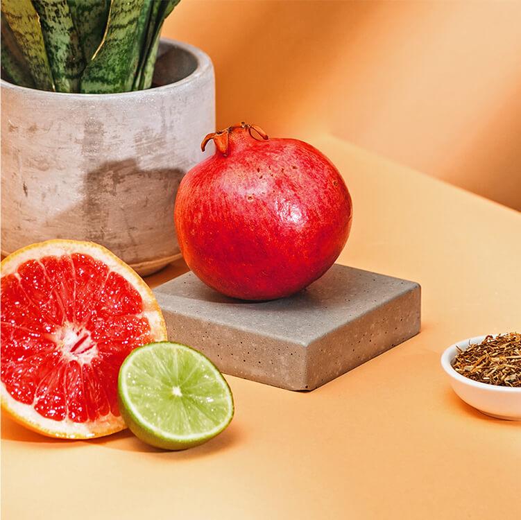 Grapefruit und Granatapfel verfeinern den Roi Lemon
