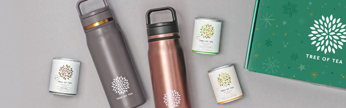 Unser Thermo Bottle 2go Set mit 3 leckeren Blatttees