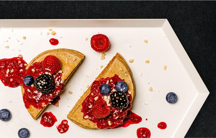 Unser Protein Porridge ist perfekt zum Backen von leckeren Protein-Pancakes