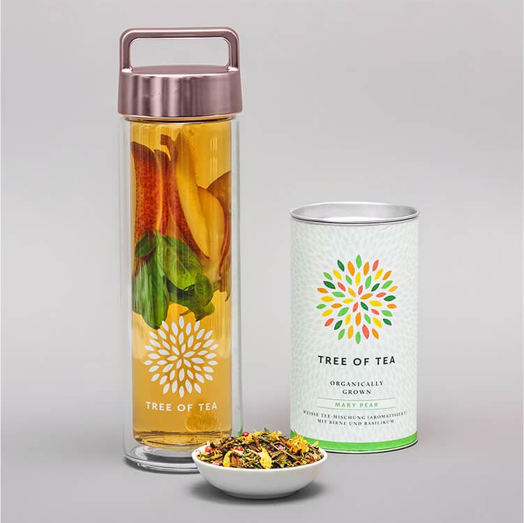 Die Kombination aus Birne und Basilikum macht den Mary Pear zu einem fruchtig-würzigem Geschmackserlebnis!