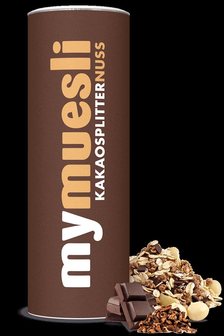 Bio-Müsli mit Kakaosplittern.