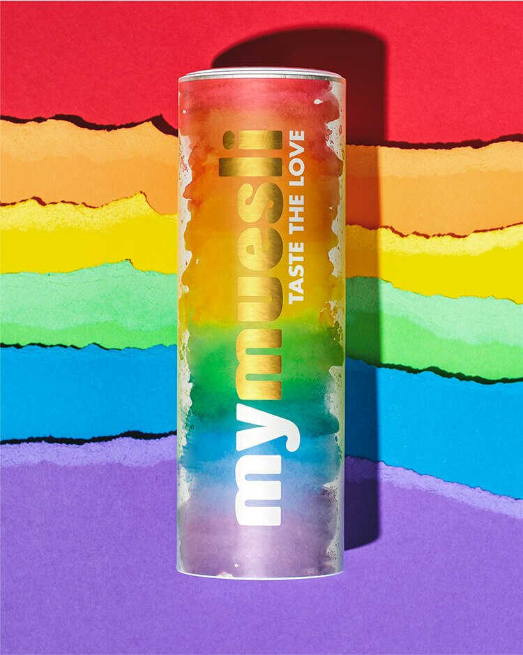 Das Rainbow Design - custom mixed Müsli