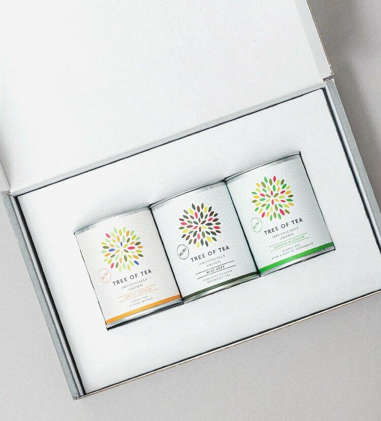 3 leckere Bio-Blatttees vereint in einer weihnachtlichen Geschenkbox
