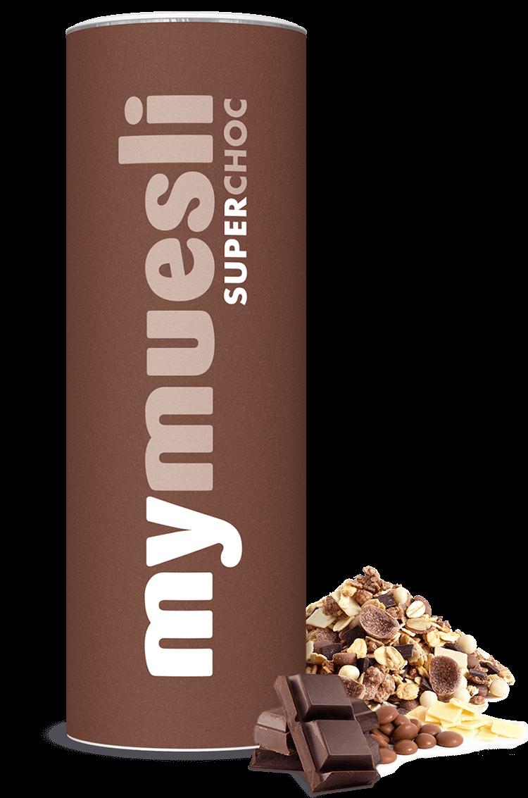 Müsli mit weißer Schokolade, Vollmilch- und Zartbitterschokolade