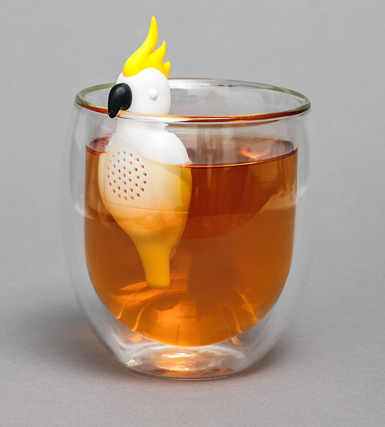 Kakadu Teesieb für Sommerspaß in Deiner Teetasse