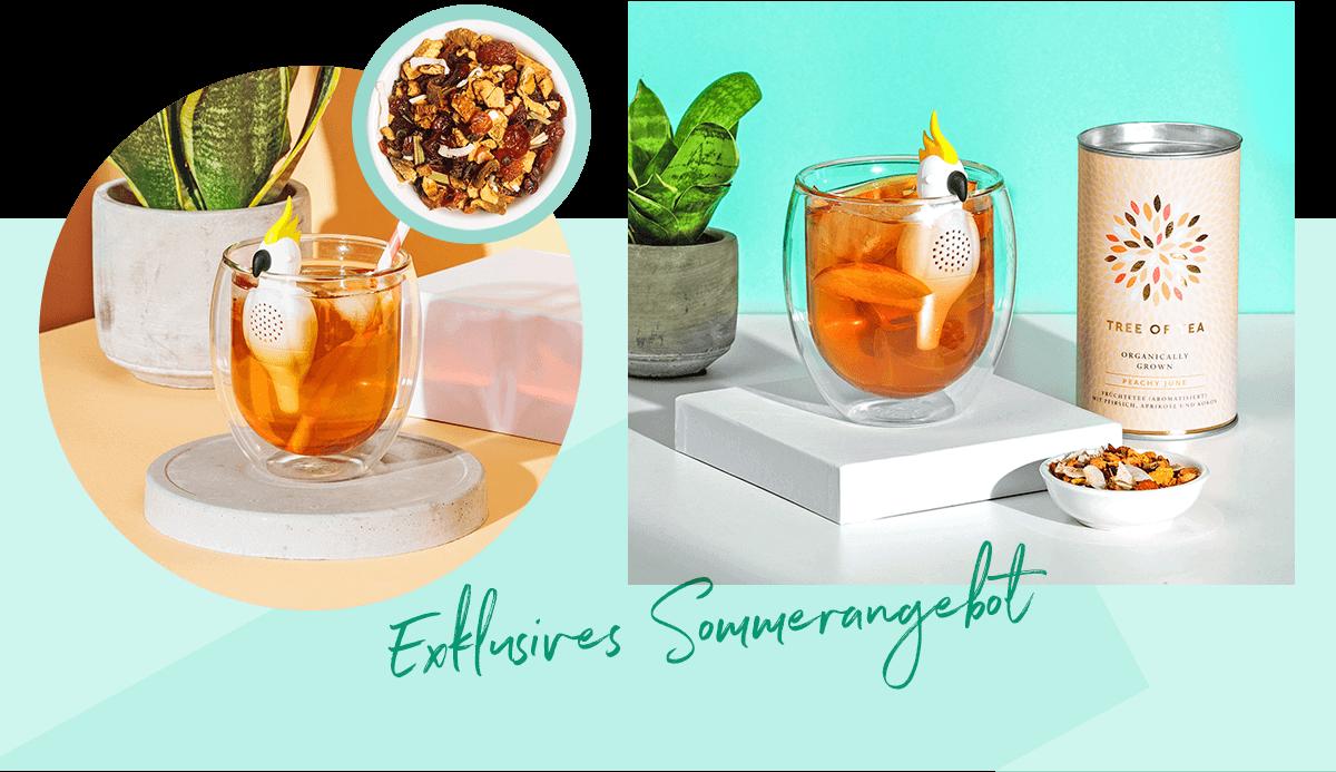 Exklusiv für den Sommer: Kakadu Teesieb für exotischen Teegenuss.