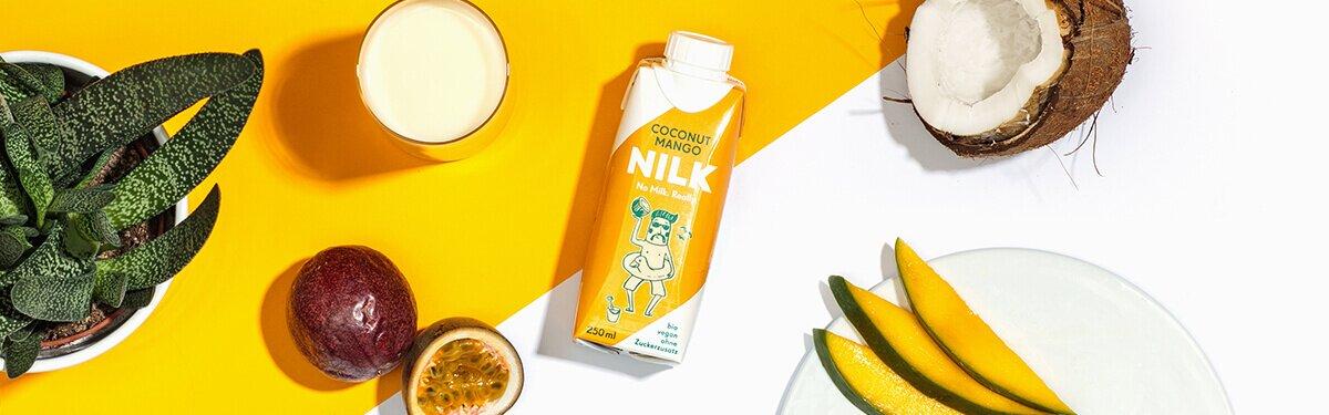 Die Nilk2go Coconut Mango mit bester Kokosmilch.