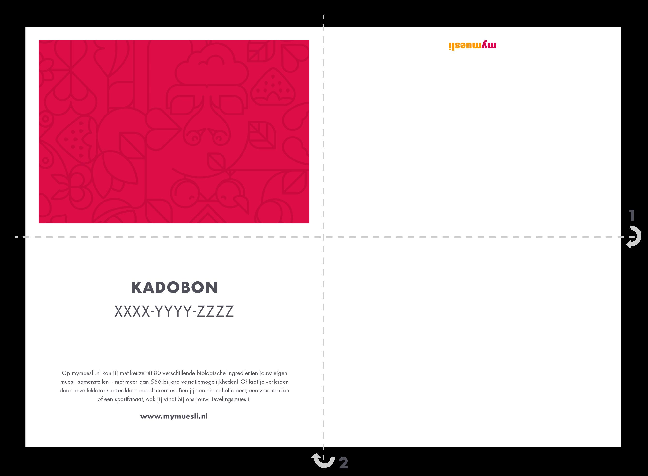 Kadobon template ongevouwen