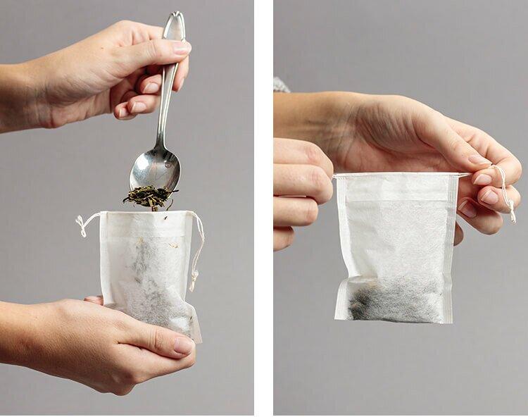 Teebeutel mit Kordel für idealen Genuss von losem Blatttee