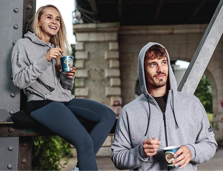 Proteinhaltige Ernährung unterstützt dich ideal beim Aufbau deiner Muskeln.
