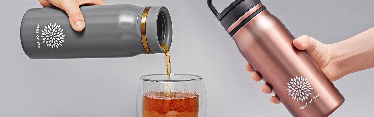 Unsere Thermo Bottle 2go für frisch aufgebrühten Tee unterwegs