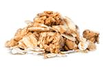 Crunch cru d'épeautre et de quinoa pour un muesli mix sain