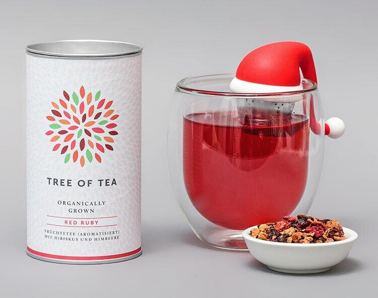 Limitiertes Set aus Teesieb und Red Ruby Früchtetee