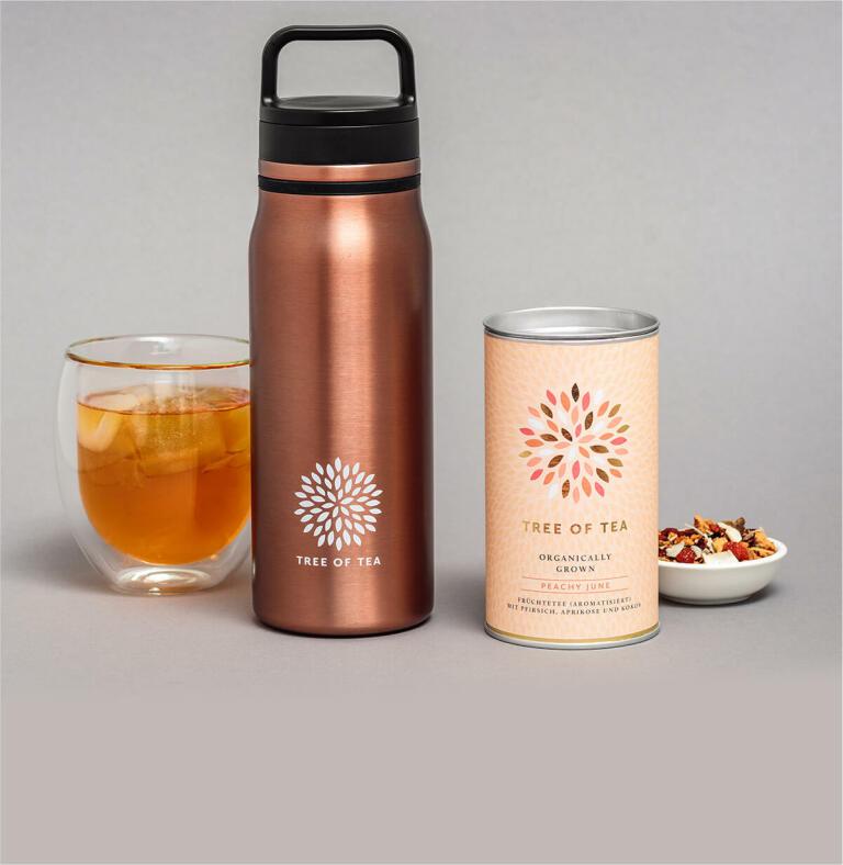 Limitiert: Peachy Bottle Set mit dem beliebten Peachy June Früchtetee