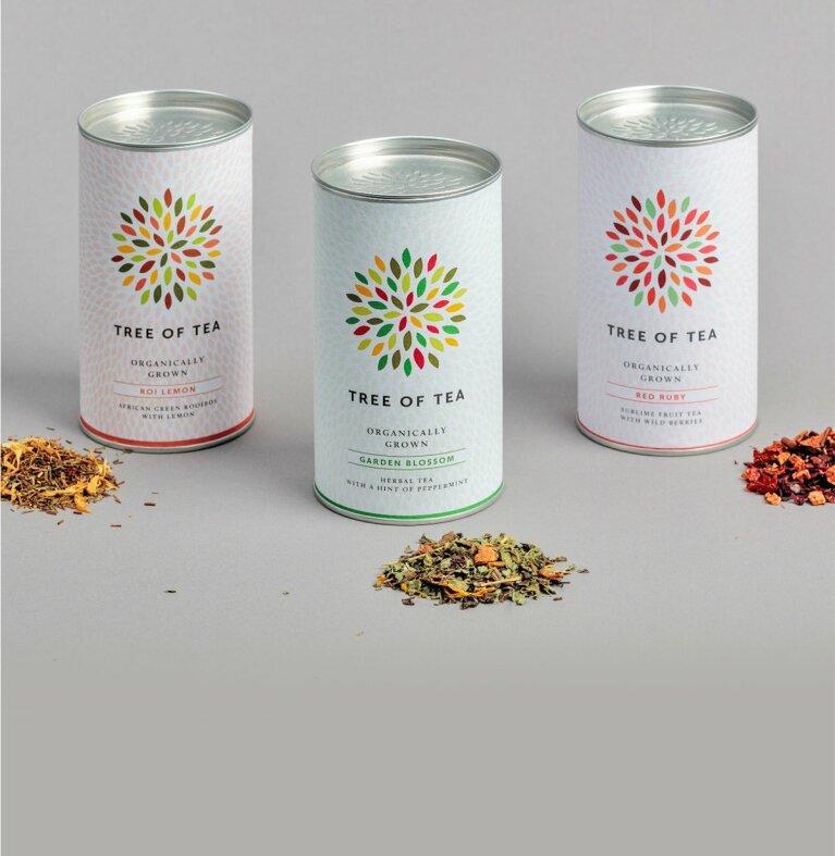 3 Sorten Blatttee vereint im Bunten Tee Set