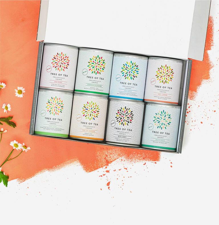 8 Tee-Minis vereint in einer schicken Geschenkbox.