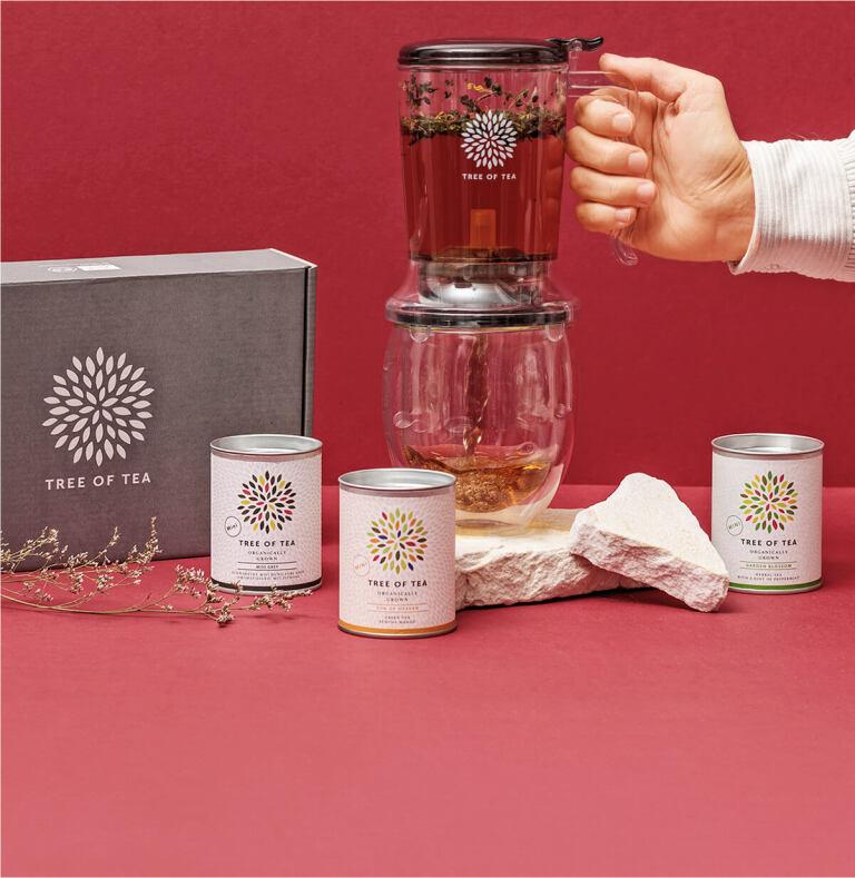 Der Tea Maker im Set mit 3 leckeren Tee-Minis.
