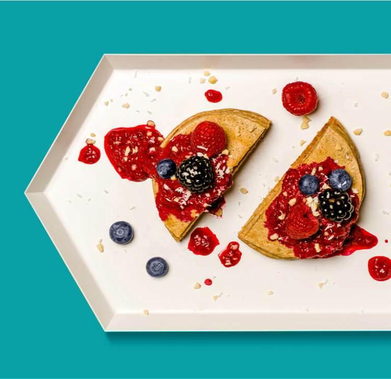 Protein Pancakes mit Hafer Nilk