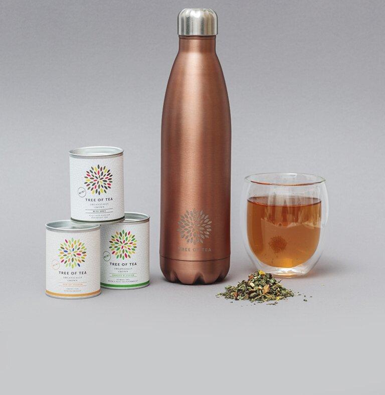 Die Thermo Bottle im Set mit 3 leckeren Tee-Minis