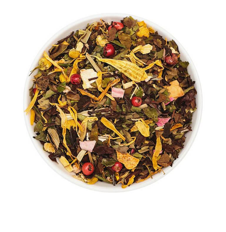 Weißer Tee Mary Pear mit Birne und Basilikum