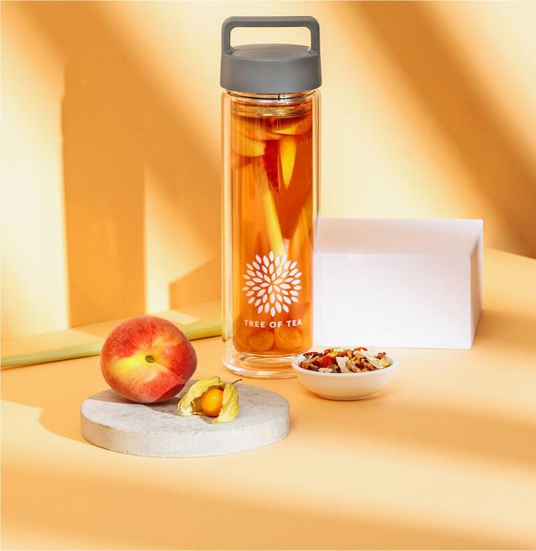 Peachy2go mit Pfirsich und Physalis