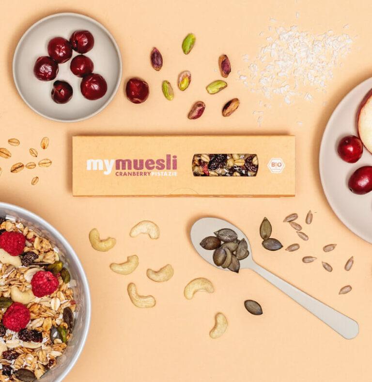 Fruchtig und Crunchy. Müsliriegel aus 100% Bio-Zutaten.