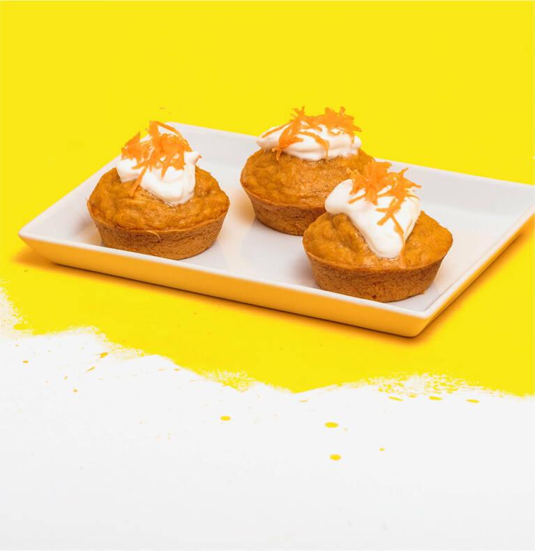 Carrot Cake Muffins mit Sun of Heaven Grüntee
