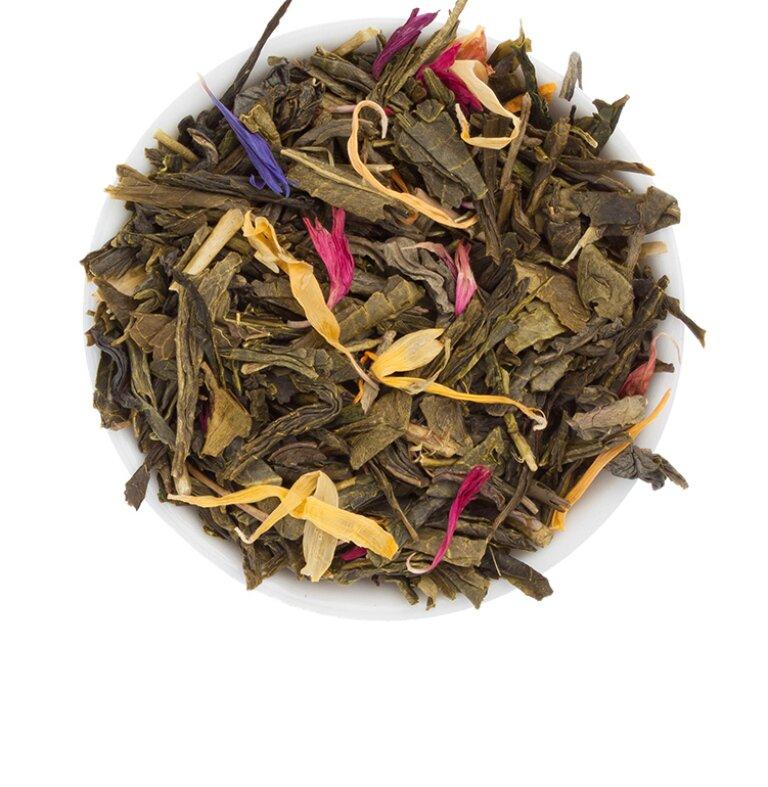 Sencha-Tee mit einem Hauch von Mango