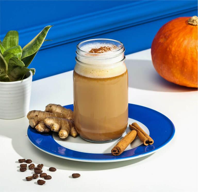 Pumpkin Spice Latte mit Hafer Nilk