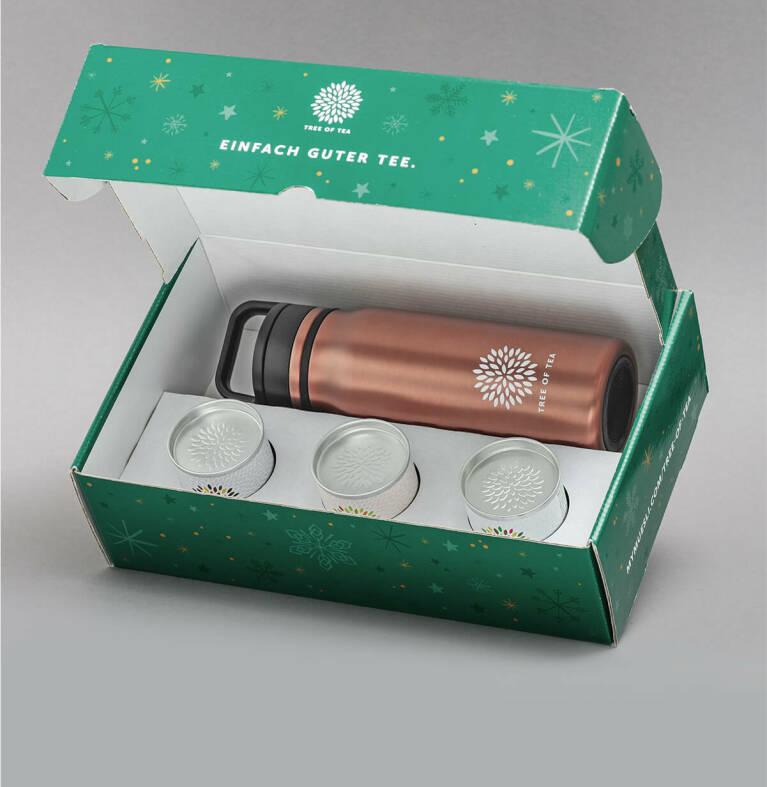 Thermo Bottle 2go mit Sieb für frisch aufgebrühten Tee unterwegs.