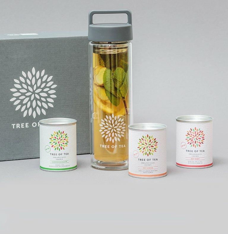 Tea2go Set mit 3 leckeren Sorten Bio-Blatttee